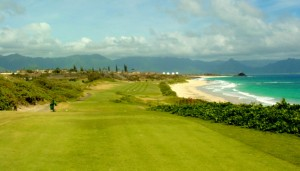 The 13th Hole at the Kaneohe Klipper Golf Course